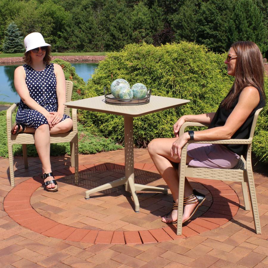 Sunnydaze All-Weather Segonia 3-Piece Patio Furniture Dining Set