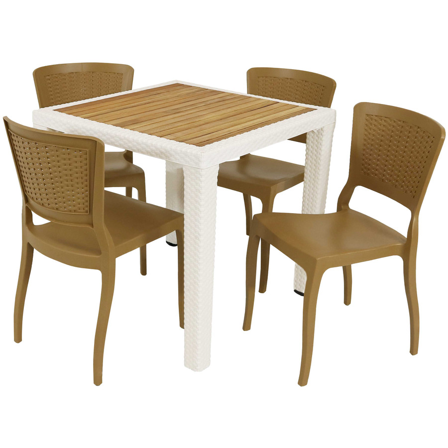 Table and Chairs Set Front Angle
