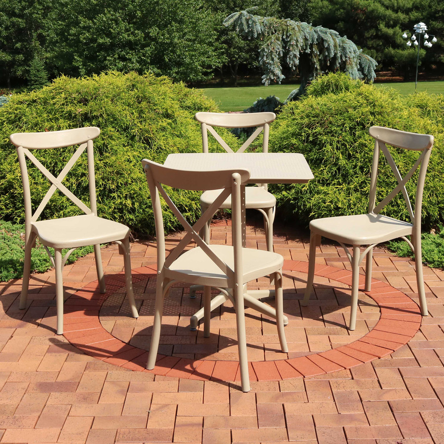 Sunnydaze All-Weather Bellemead 5-Piece Patio Furniture Dining Set
