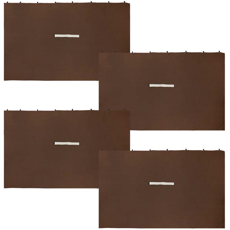 Sunnydaze 10-Foot x 10-Foot Polyester Gazebo 4-Piece Sidewall Set - Brown