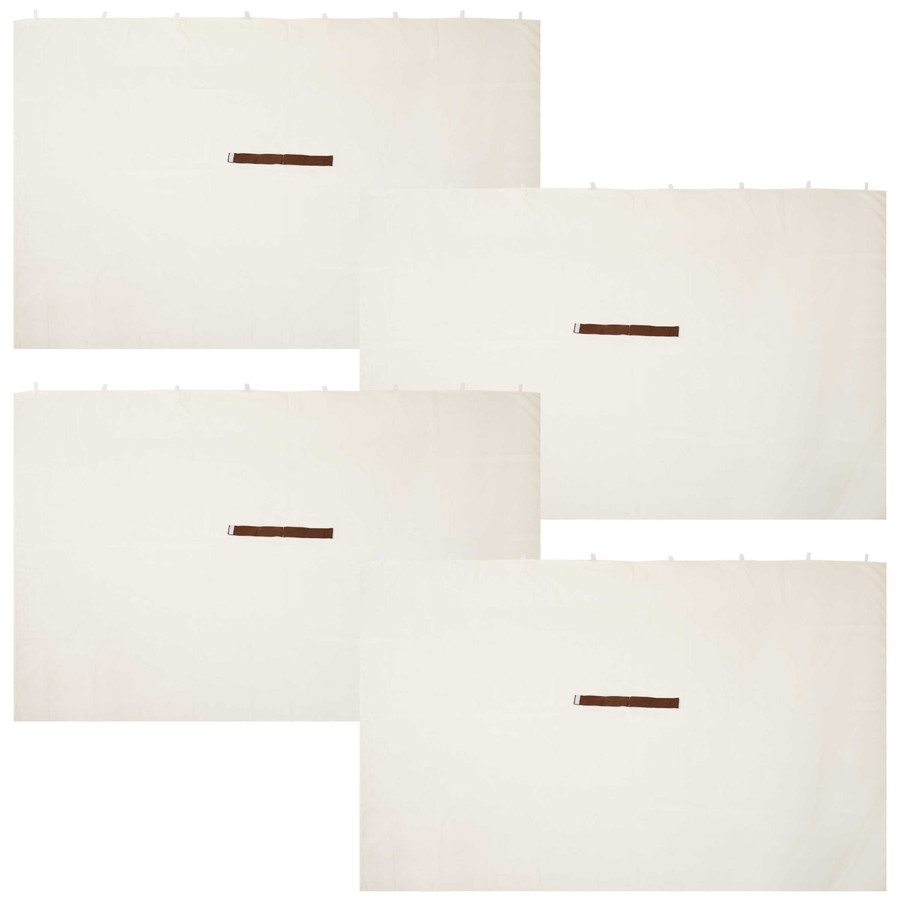 Sunnydaze 10-Foot x 10-Foot Polyester Gazebo 4-Piece Sidewall Set - Cream