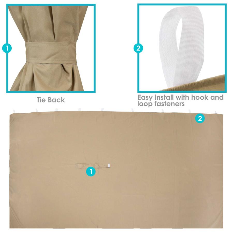 Tie Backs and Hook and Loop Fasteners