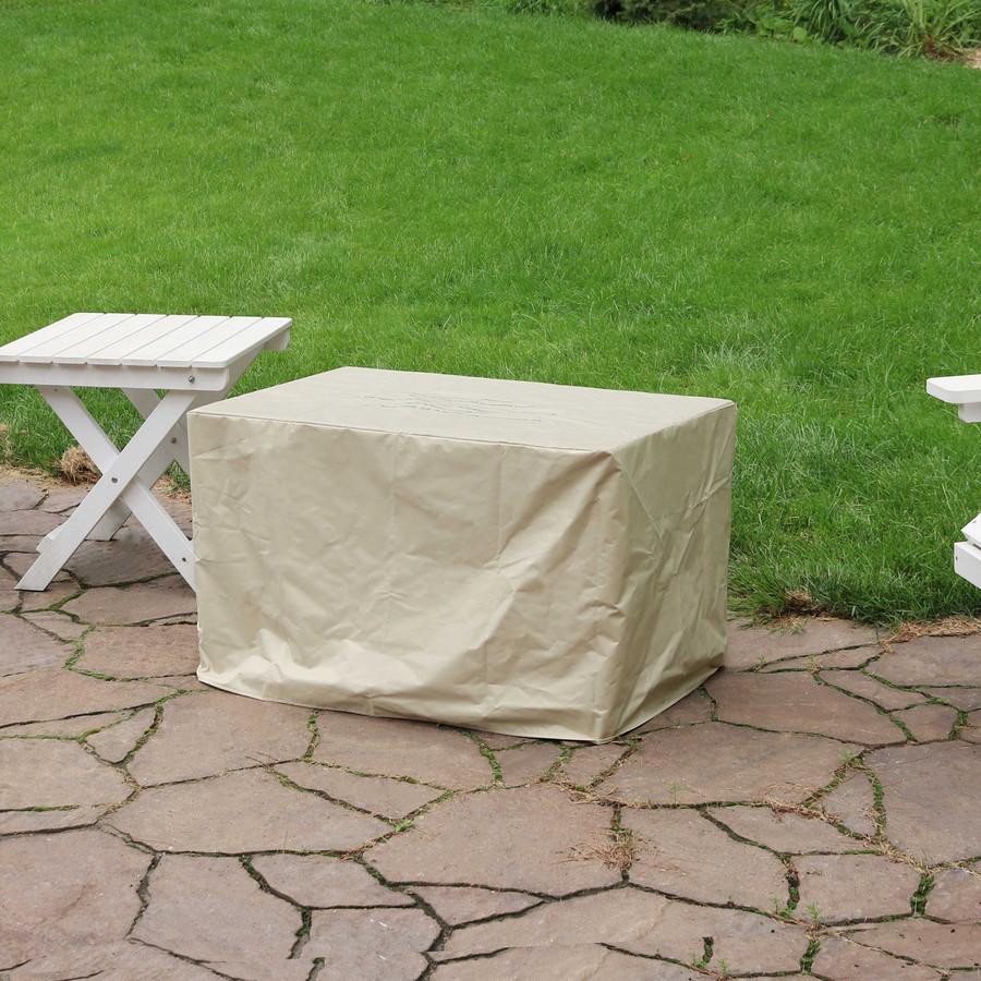 "Sunnydaze Tile Top Resin Wicker Propane Gas Fire Pit Coffee Table - 32"""