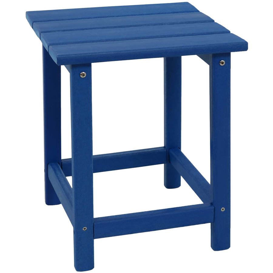 Sunnydaze All-Weather Outdoor Side Table - Blue