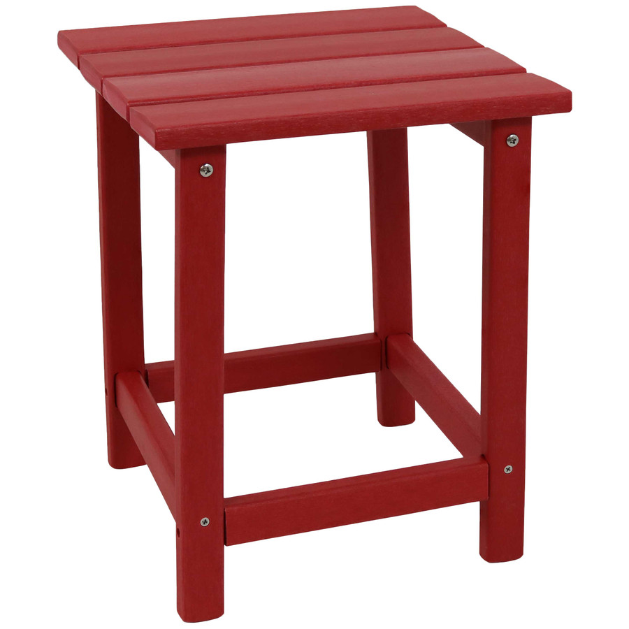 Sunnydaze All-Weather Outdoor Side Table - Red