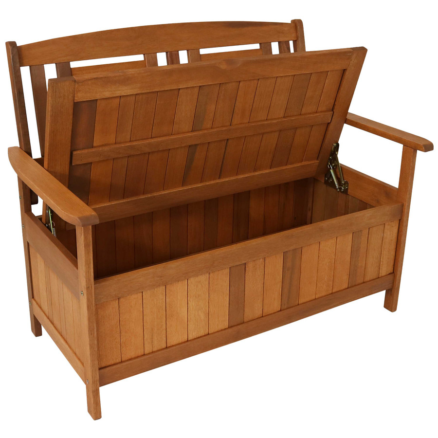Bench with Storage Area Opened