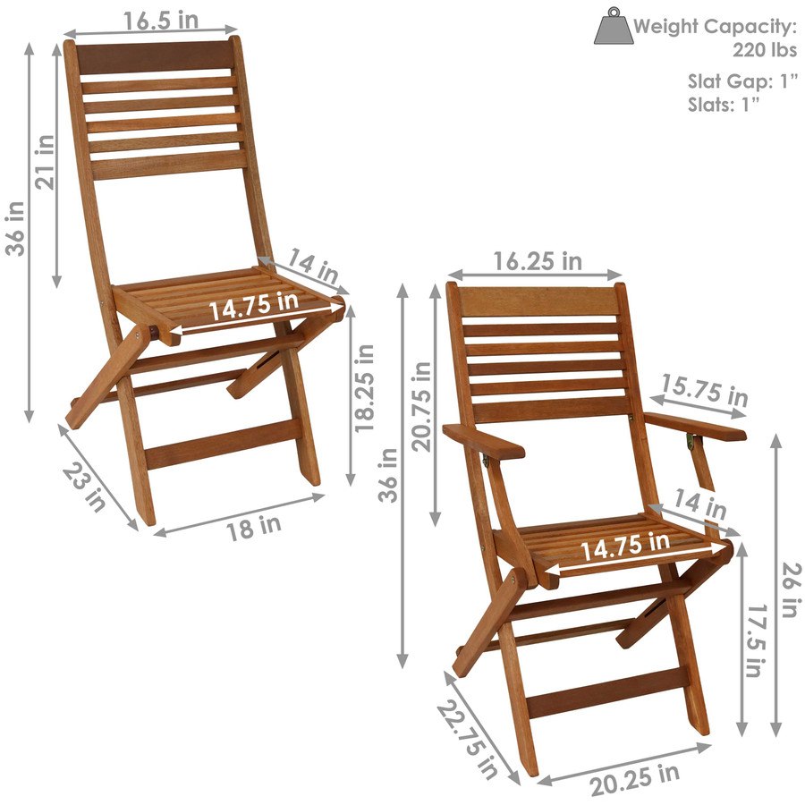 Detailed Dimensions, Chairs