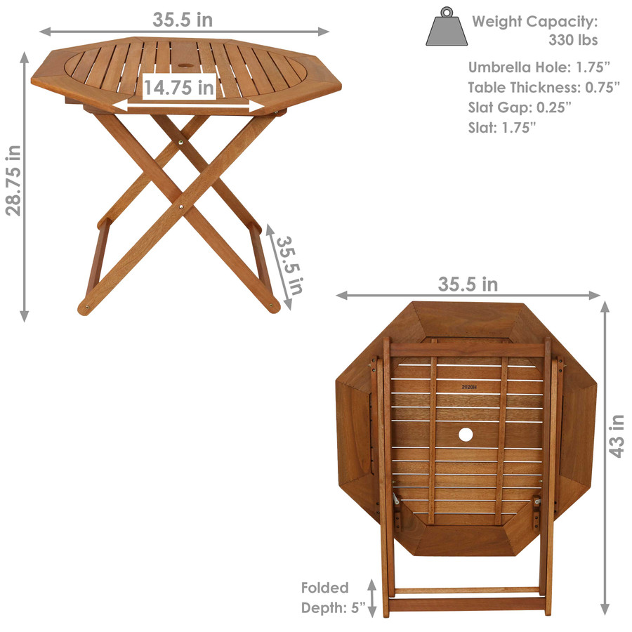 Detailed Dimensions, Table