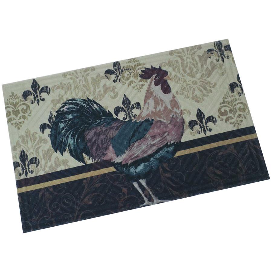 """Sunnydaze Kitchen Floor Mat - 23"""" L x 35"""" W - Brown Rooster"""