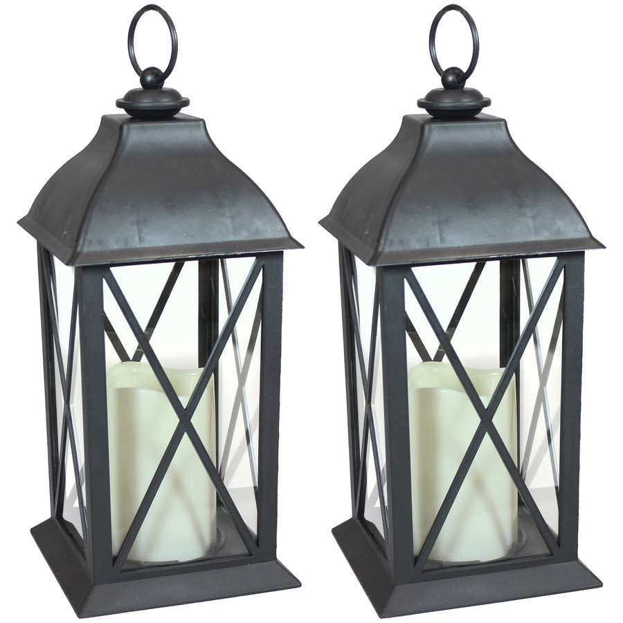 Lexington Indoor Decorative LED Candle Lantern, Set of 2