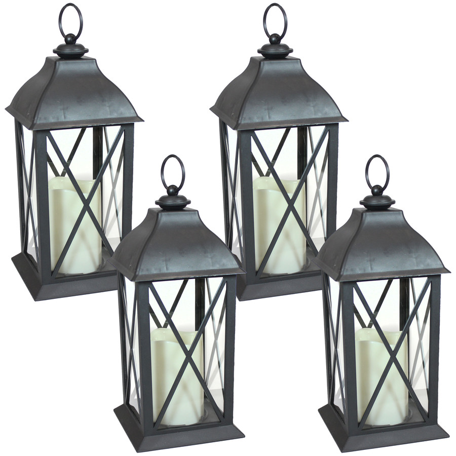 Lexington Indoor Decorative LED Candle Lantern, Set of 4