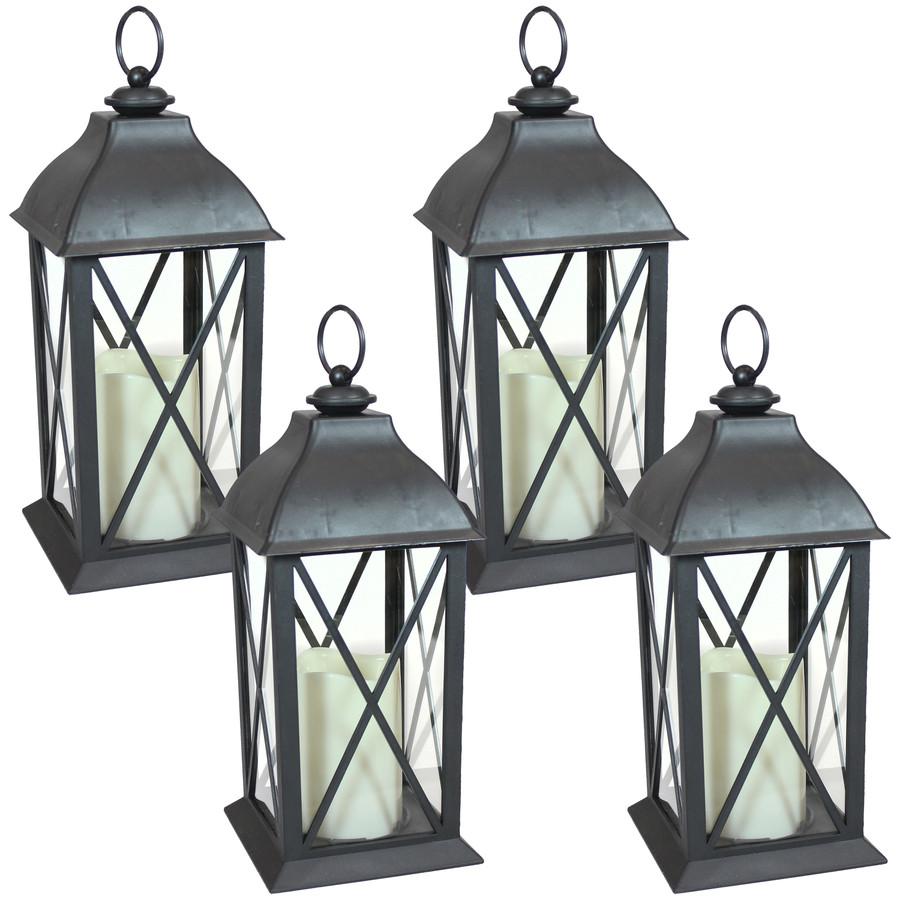 Lexington Indoor Decorative LED Candle Lantern, Set of 4
