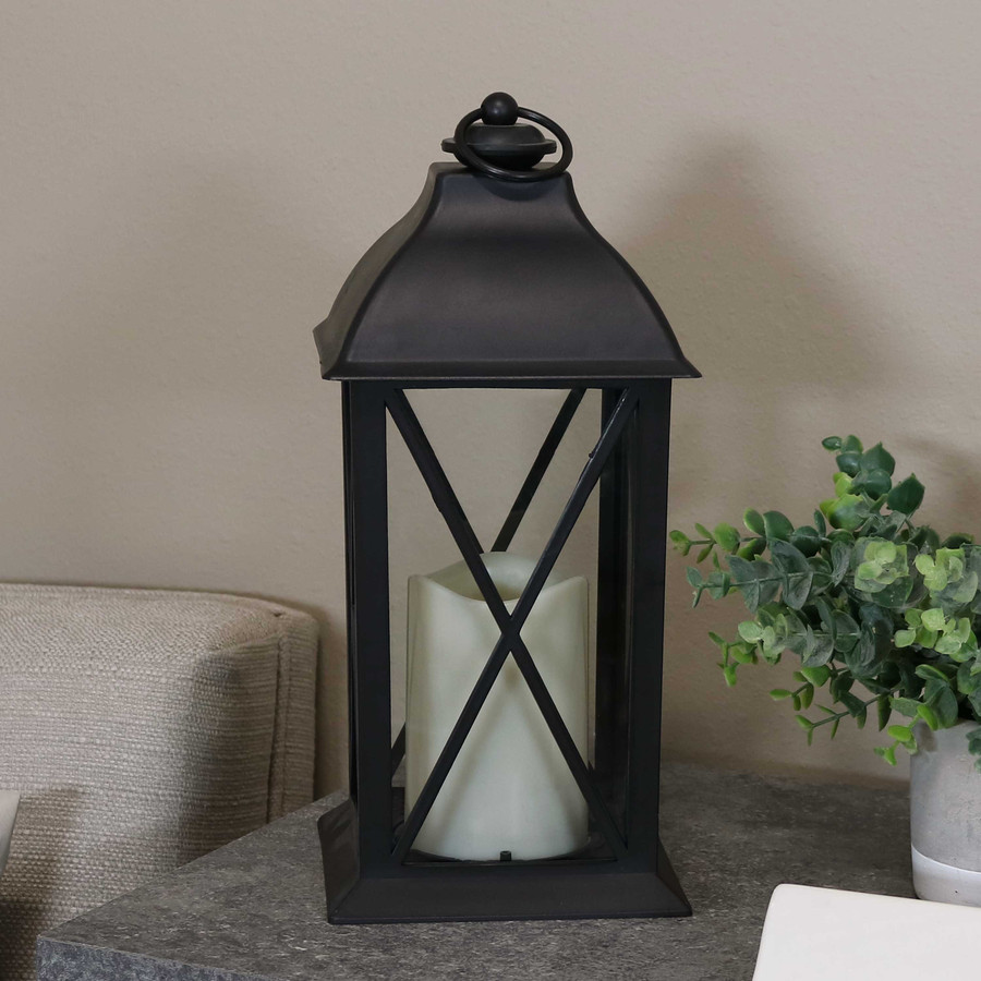 Lexington Indoor Decorative LED Candle Lantern, Single, Light Off