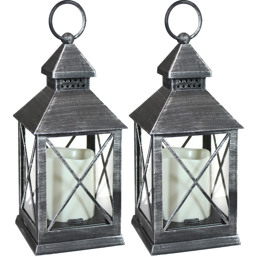 Yorktown Indoor Decorative LED Candle Lantern, Set of 2