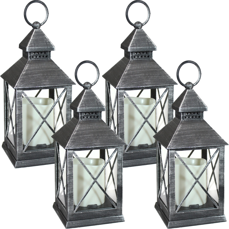 Yorktown Indoor Decorative LED Candle Lantern, Set of 4