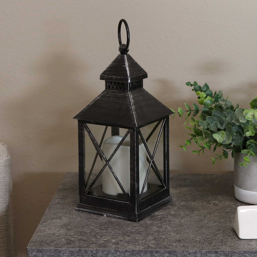Yorktown Indoor Decorative LED Candle Lantern, Single, Lights Off