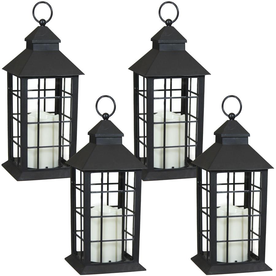 Fairfax Indoor Decorative LED Candle Lantern, Set of 4