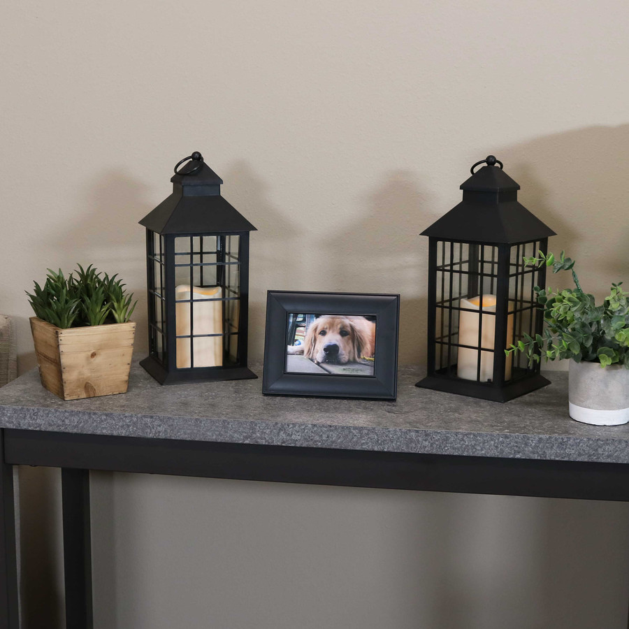 Fairfax Indoor Decorative LED Candle Lantern, Set of 2