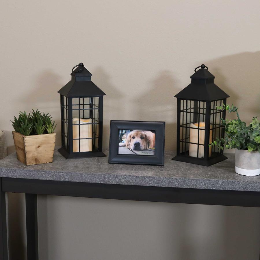 Fairfax Indoor Decorative LED Candle Lantern, Set of 2
