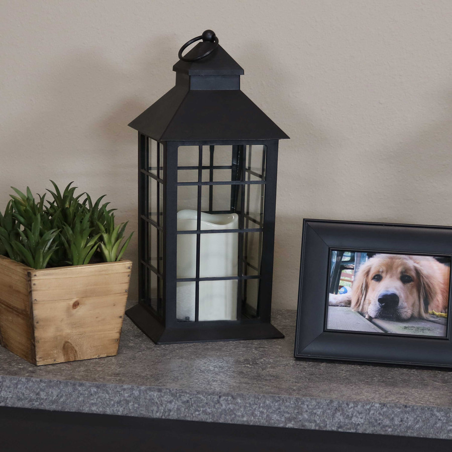 Fairfax Indoor Decorative LED Candle Lantern, Single with Light Off