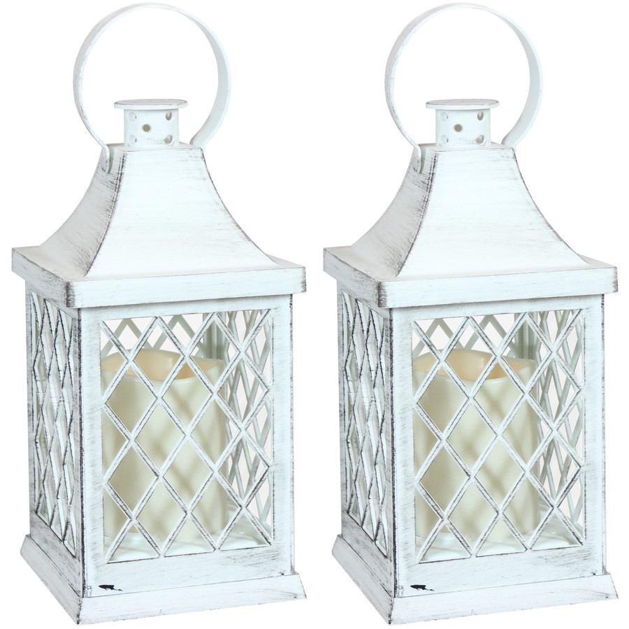Ligonier Indoor Decorative LED Candle Lantern, Set of 2