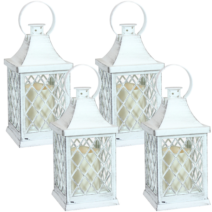 Ligonier Indoor Decorative LED Candle Lantern, Set of 4