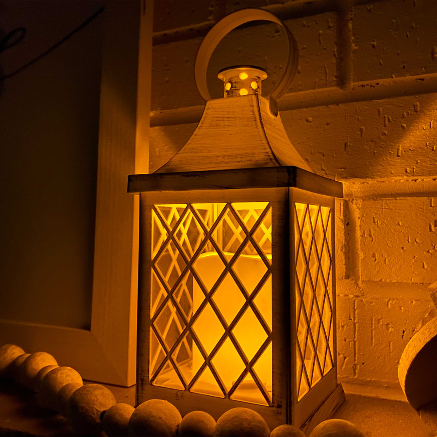 Ligonier Indoor Decorative LED Candle Lantern, Nighttime