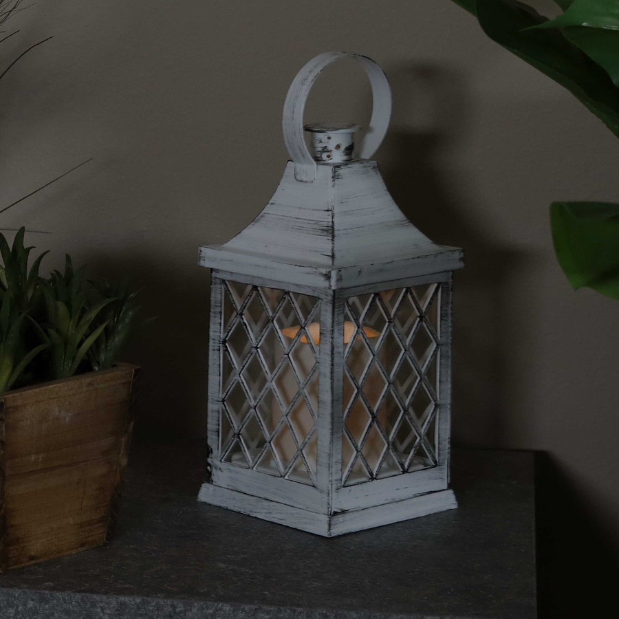 Ligonier Indoor Decorative LED Candle Lantern, Single, Nighttime