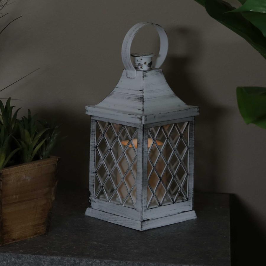 Ligonier Indoor Decorative LED Candle Lantern, Single, Nighttime