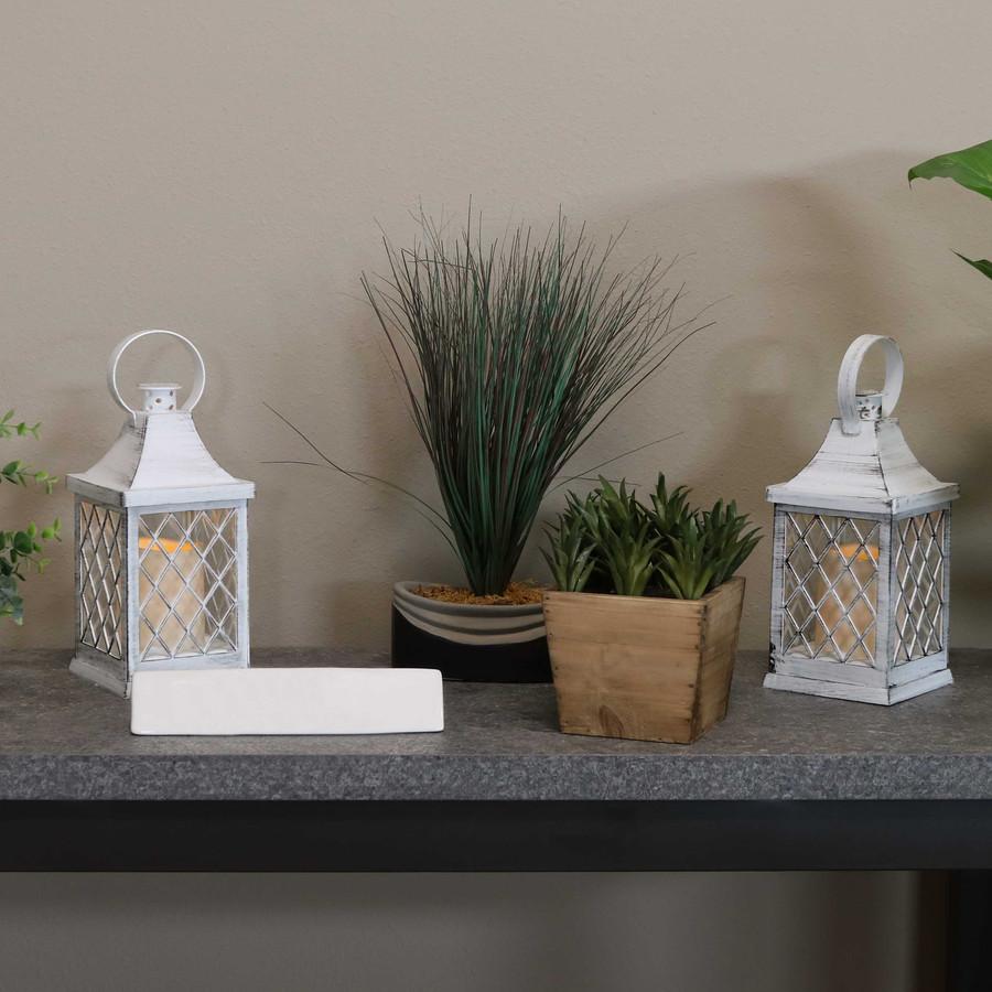 Ligonier Indoor Decorative LED Candle Lantern, Set of 2
