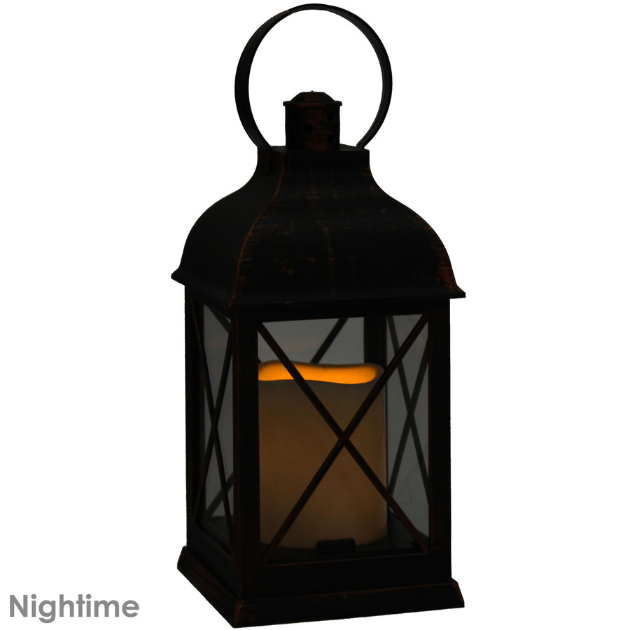 Setauket Indoor Decorative LED Candle Lantern, Nighttime