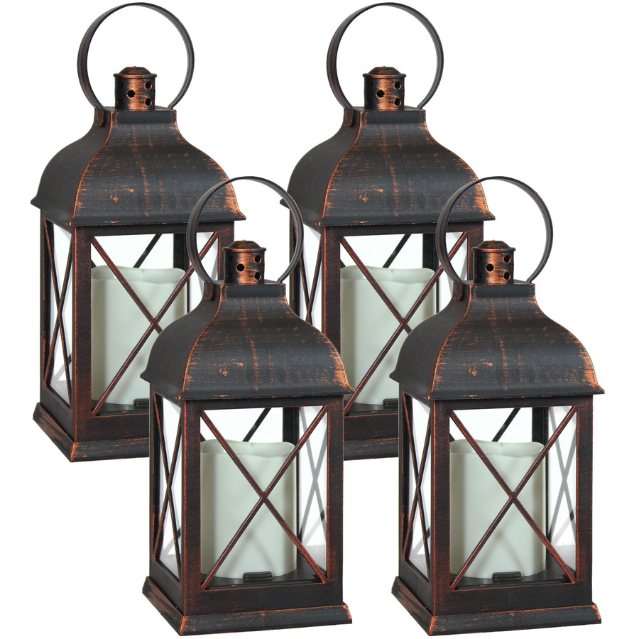 Setauket Indoor Decorative LED Candle Lantern, Set of 4