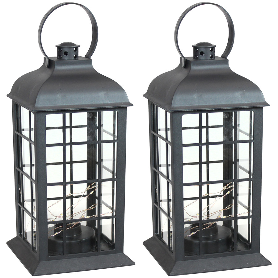 Oyster Bay Indoor Decorative LED Lantern, Set of 2