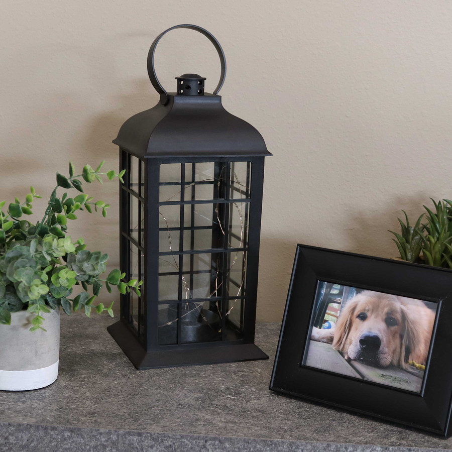 Oyster Bay Indoor Decorative LED Lantern, Single, Lights Off