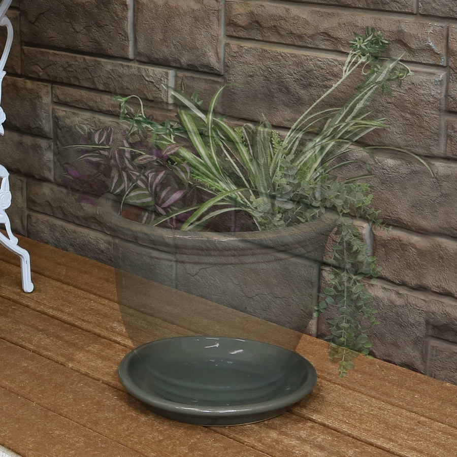 """9"""" Gray - PLANTER NOT INCLUDED"""