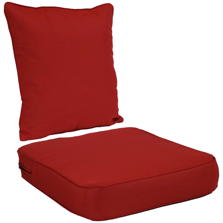 Back and Seat Cushion Set, Red