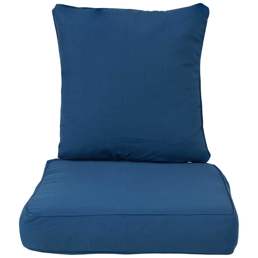 Back and Seat Cushion Set, Blue