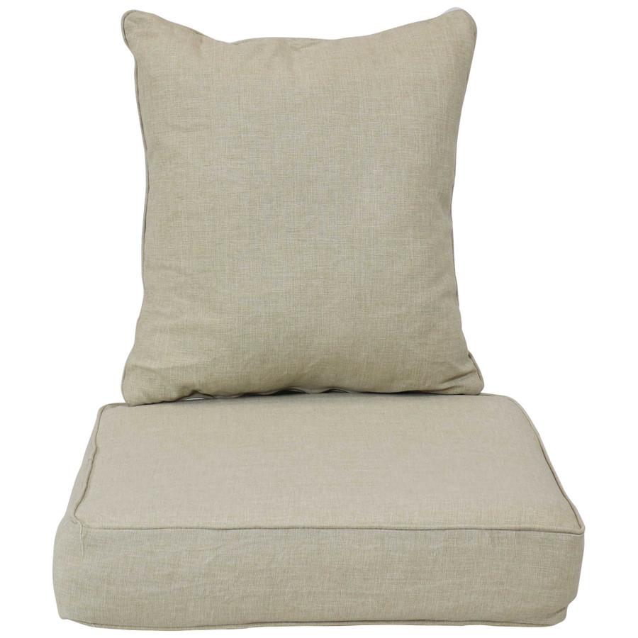 Back and Seat Cushion Set, Beige