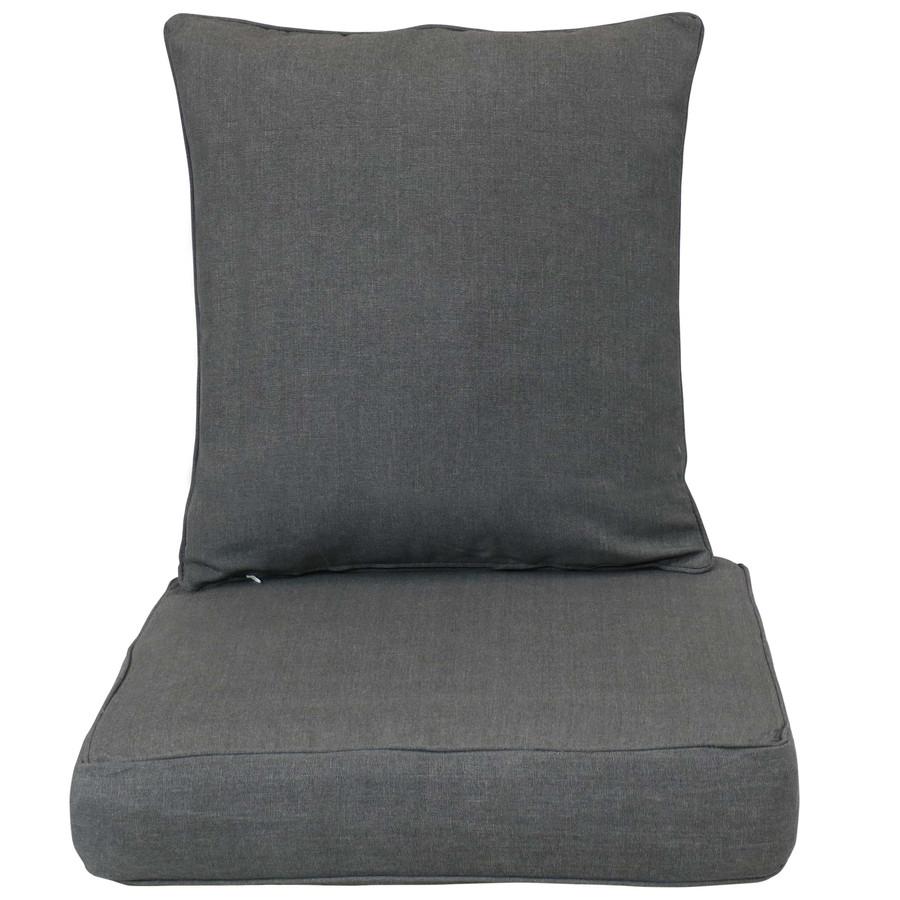 Back and Seat Cushion Set, Gray