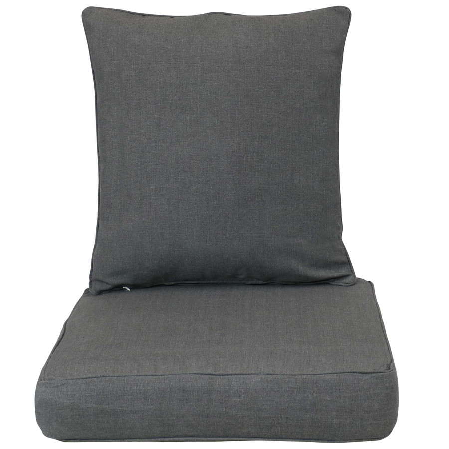 Back and Seat Cushion Set, Gray