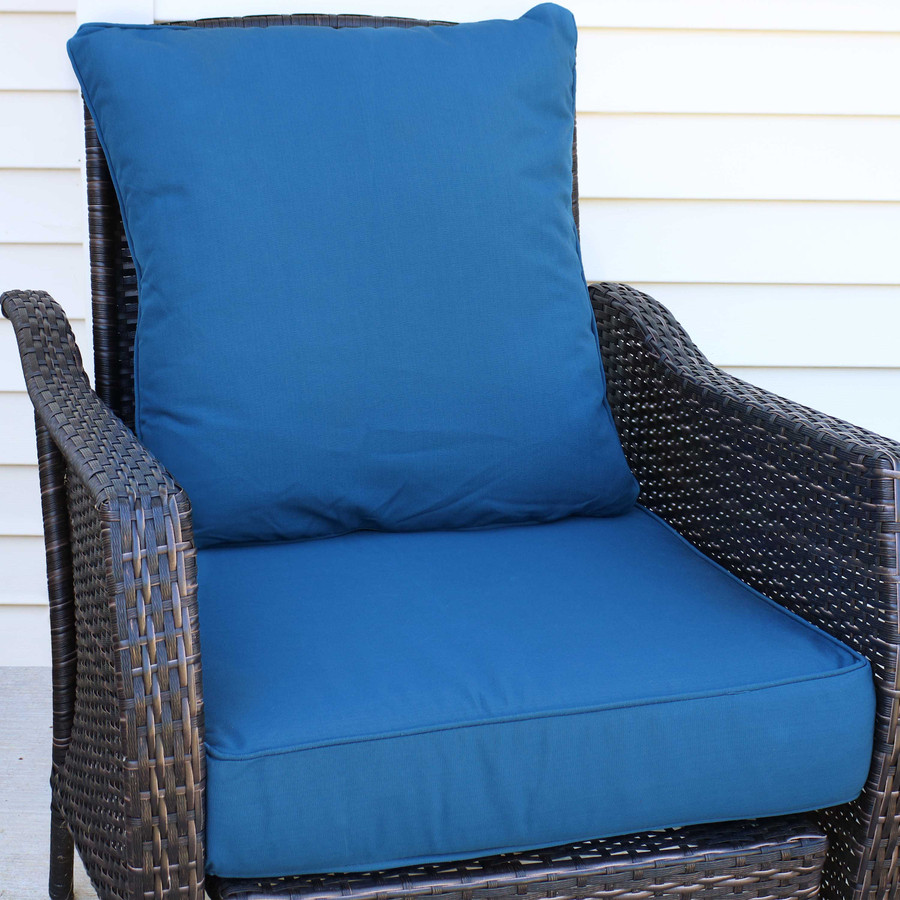 Back and Seat Cushion Set, Blue (Chair Not Included)