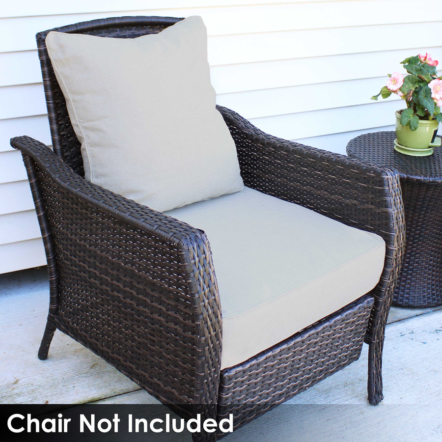 Back and Seat Cushion Set, Beige (Chair Not Included)