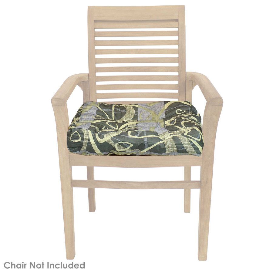 Modern Jazz Tufted Seat Cushion Shown on Chair (Chair Not Included)