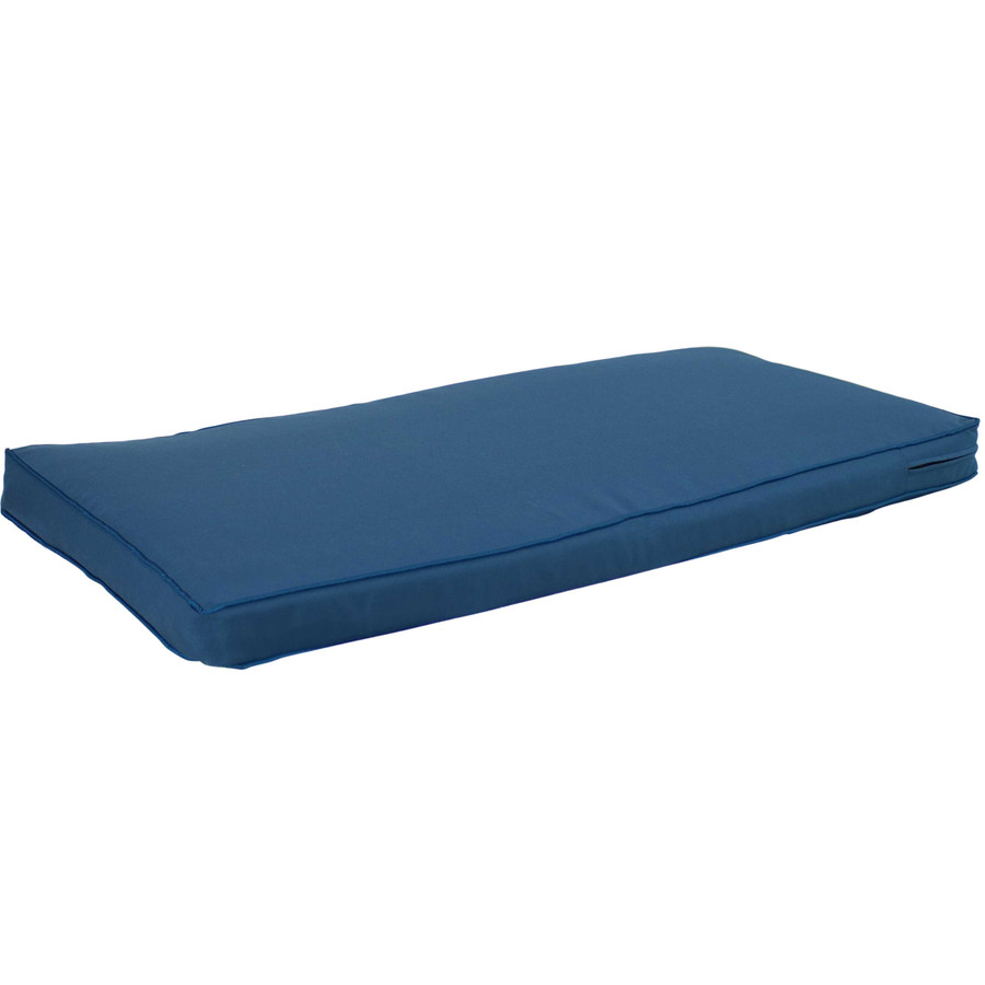 Cushion for Outdoor Bench or Porch Swing, Blue