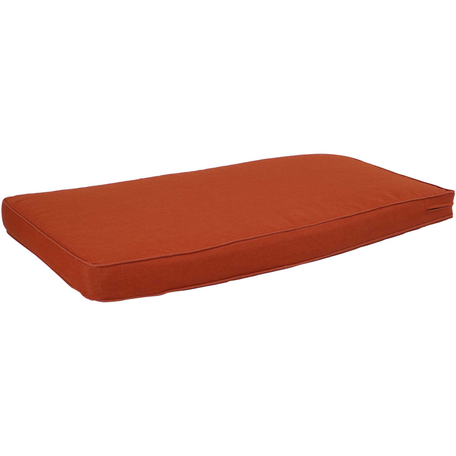 Cushion for Outdoor Bench or Porch Swing, Rust