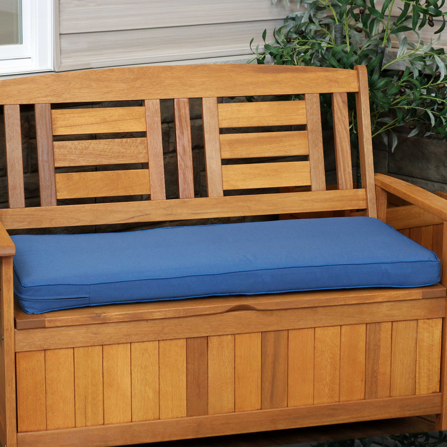 Cushion for Outdoor Bench or Porch Swing, Blue (Bench Not Included)