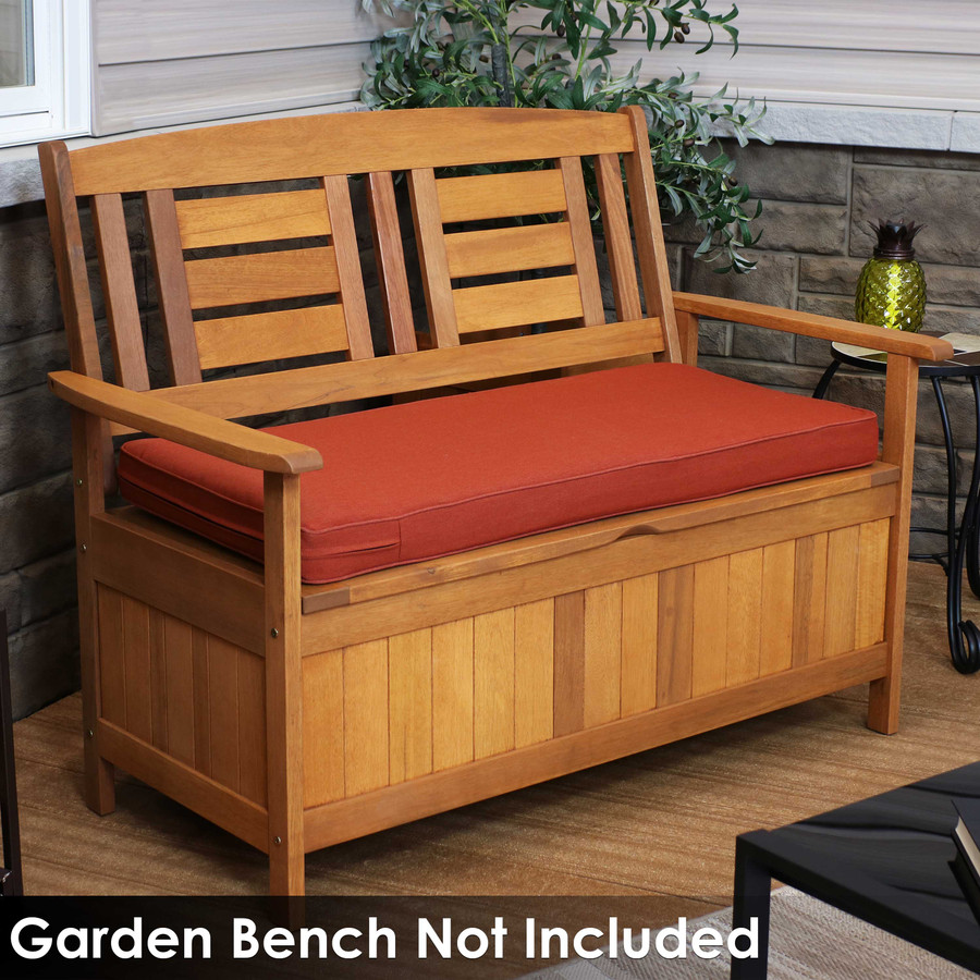 Cushion for Outdoor Bench or Porch Swing, Red (Bench Not Included)
