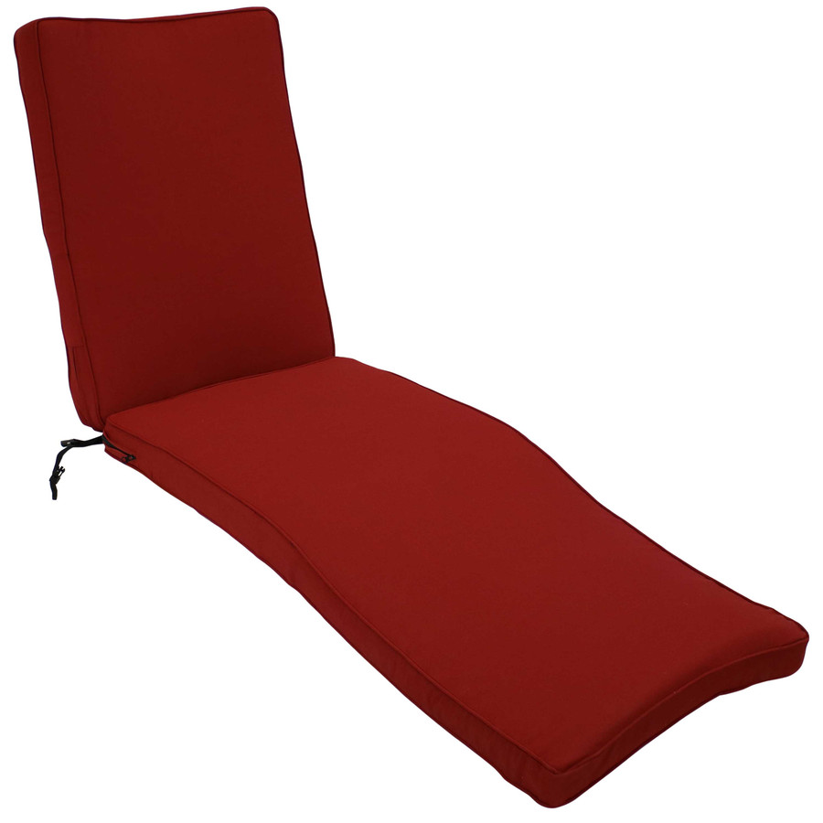 Outdoor Patio Chaise Lounge Cushion, Red