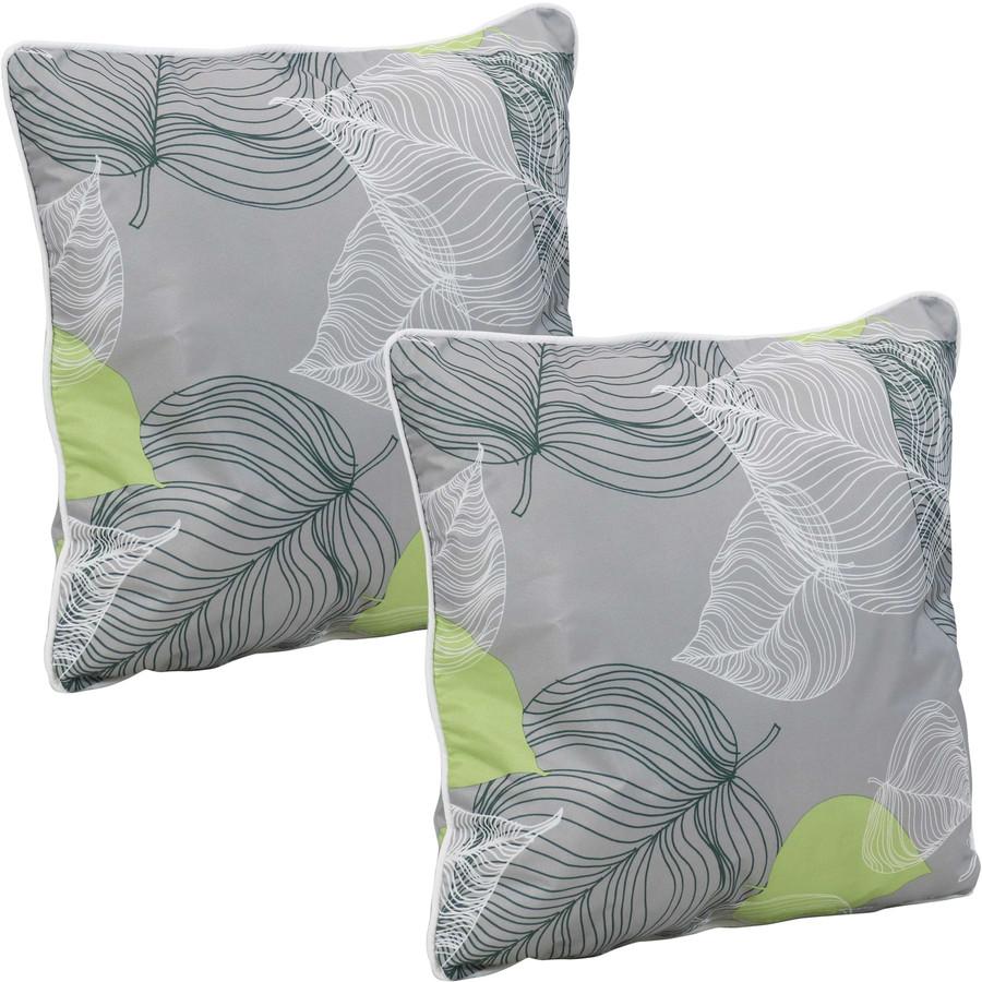 Outdoor Decorative Throw Pillows, Set of 2, Lush Foliage