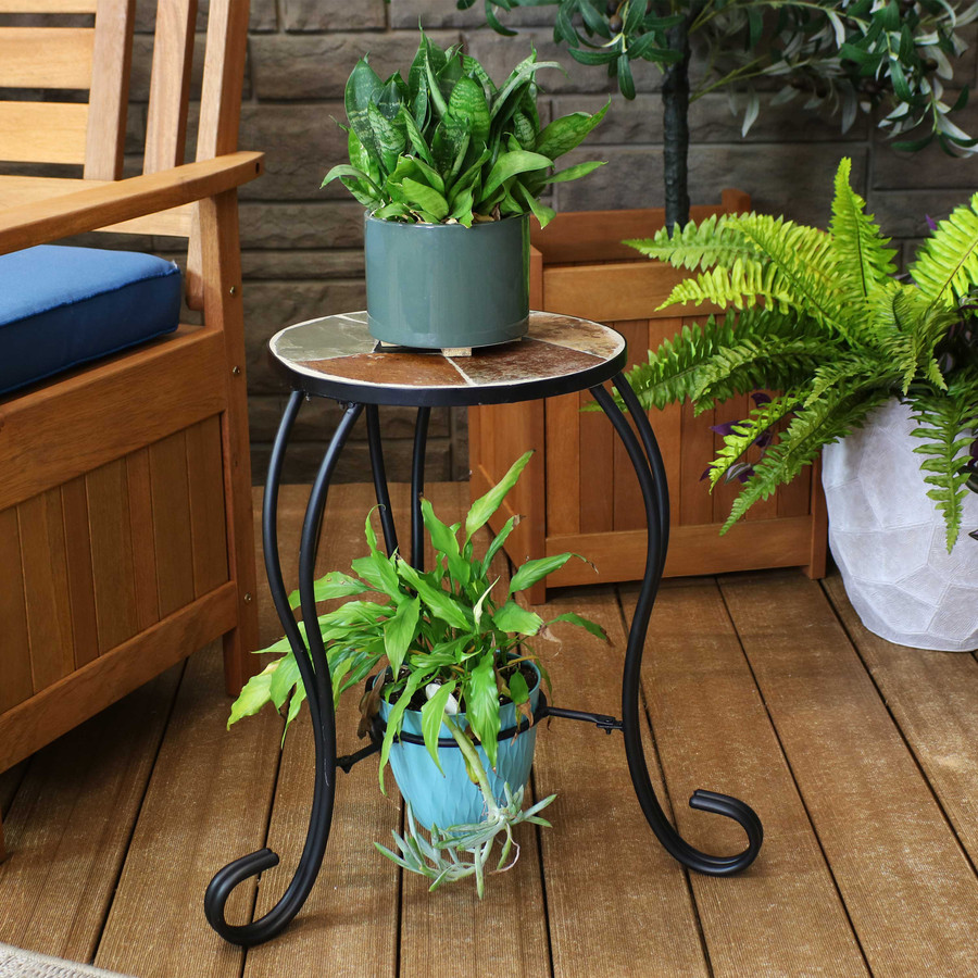 Shown in use as dual plant stand